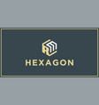 Rm hexagon logo design inspiration