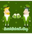 Saint Patricks Day Celebration Cartoon Characters vector image vector image