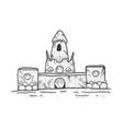sand castle sketch vector image