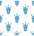 Seamless light bulb pattern vector image vector image