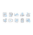 set education icons such as chemistry lab vector image vector image