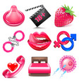 Sex icons set vector image vector image