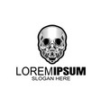 skull logo icon or skull skeleton vector image vector image