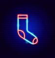 sock neon sign vector image