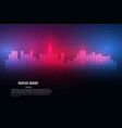 sound waves oscillating glow light abstract vector image