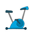 spinning gym machine vector image vector image