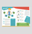 sport and yoga - colorful brochure template vector image