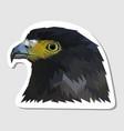 sticker eagle head vector image vector image