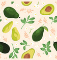 summer pattern with avocado vector image vector image