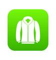 sweatshirt icon digital green vector image vector image