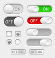 switch slider buttons radio buttons vector image vector image