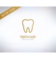 Tooth Icon Icon Health Medical or Doctor vector image vector image