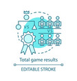 total game result concept icon vector image vector image