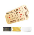 two cinema tickets top view blank vector image vector image