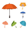 umbrella and rain symbol vector image vector image