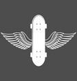 vintage badges with skateboard vector image vector image