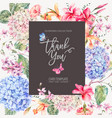 vintage floral greeting card with vector image vector image