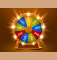 wheel of fortune gamble chance leisure colorful vector image vector image