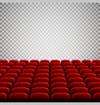 wide empty movie theater auditorium with red vector image