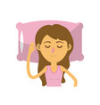 woman with hairstyle desing sleeping vector image vector image