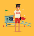 Young Male Life Guard Character vector image