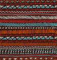 Boho seamless pattern tribal vintage background vector image