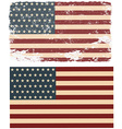 Flag of the USA in retro style vector image