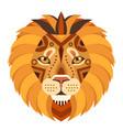 lion head logo decorative emblem vector image