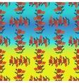 Poppy seamless pattern vector image