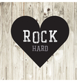 Hard rock wooden concept heart vector image