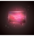 abstract pink background with glass transparent vector image vector image
