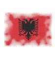 albania flag halftone vector image vector image