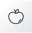 apple icon line symbol premium quality isolated vector image