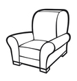Armchair - leather tub chair vector image