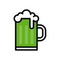 beer mug feast of saint patrick filled icon vector image vector image