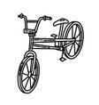 bicycle icon doodle hand drawn or outline icon vector image