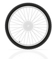 bicycle wheel 02 vector image vector image