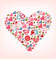 big shape of cute hearts vector image vector image