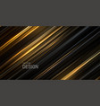 black and golden sliced surface vector image