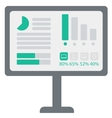 Board with business charts vector image