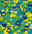 Bright carnival icons vector image vector image