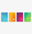 brochure design with halftone wave lines and neon vector image vector image