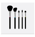 brushes icons vector image