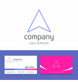 business card design with arrows company logo vector image
