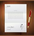business pen paper set vector image vector image