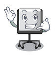 call me presentation board isolated on a mascot vector image