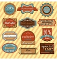 Collection of vintage retro labels badges and vector image vector image