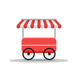creative street cart or shop fast food truck vector image vector image