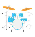 drum kit flat icon music and instrument vector image vector image