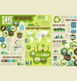 ecology infographic for save earth planet concept vector image vector image